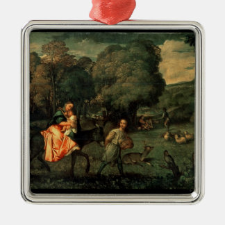 The Flight into Egypt, 1500s Christmas Ornament