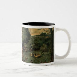 The Flight into Egypt, 1500s Two-Tone Coffee Mug