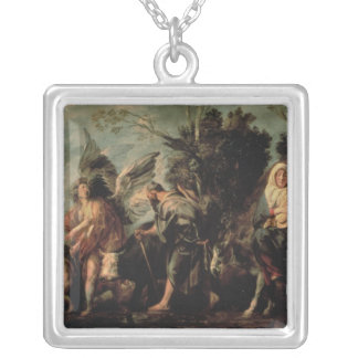 The Flight into Egypt, 17th century Silver Plated Necklace