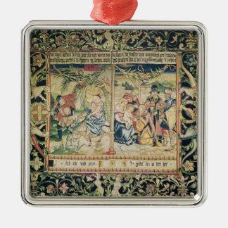 The Flight into Egypt and the Adoration of Christmas Ornament