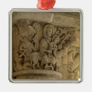 The Flight into Egypt, column capital relief from Christmas Ornament