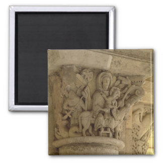 The Flight into Egypt, column capital relief from Magnet