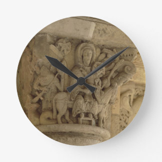 The Flight into Egypt, column capital relief from Round Clock
