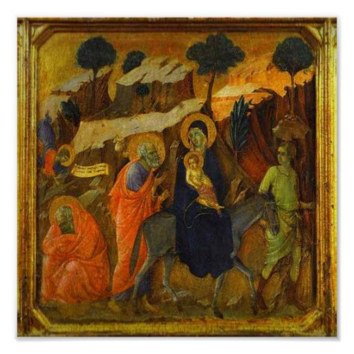 The Flight Into Egypt Religious Renaissance Poster