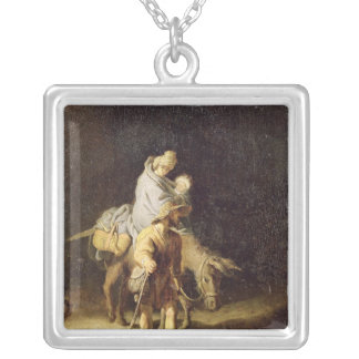 The Flight into Egypt Silver Plated Necklace