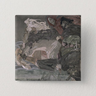 The Flight of Faust and Mephistopheles, 1896 15 Cm Square Badge