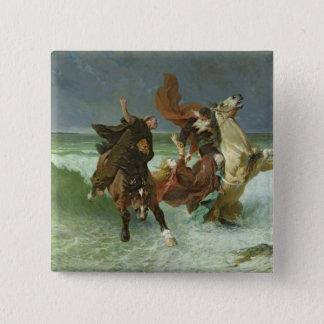 The Flight of Gradlon Mawr  c.1884 15 Cm Square Badge