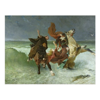The Flight of Gradlon Mawr  c.1884 Postcard