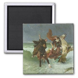 The Flight of Gradlon Mawr  c.1884 Square Magnet