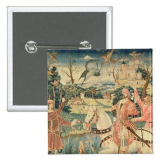 The Flight of the Heron, Franco-Flemish 15 Cm Square Badge