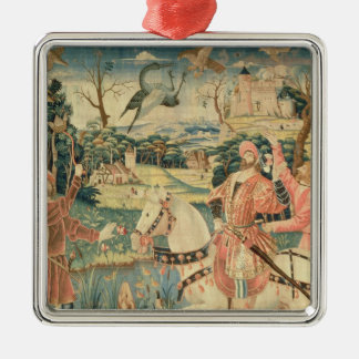 The Flight of the Heron, Franco-Flemish Silver-Colored Square Decoration