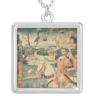 The Flight of the Heron, Franco-Flemish Silver Plated Necklace