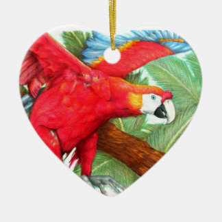 The Flight of the Macaw by Derrick Rathgeber Ornament
