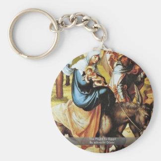 The Flight To Egypt By Albrecht Dürer Keychain