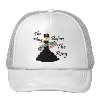 The Fling Before The Ring White Background Hat