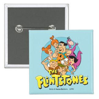 The Flintstones and Rubbles Family Graphic 15 Cm Square Badge