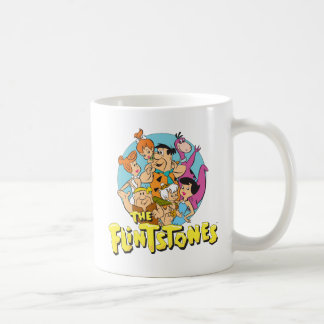 The Flintstones and Rubbles Family Graphic Coffee Mug