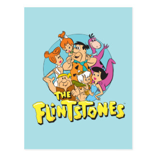 The Flintstones and Rubbles Family Graphic Postcard