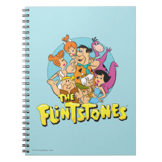 The Flintstones and Rubbles Family Graphic Spiral Note Book