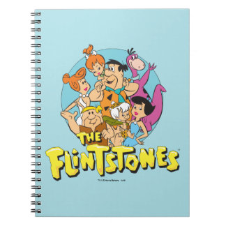 The Flintstones and Rubbles Family Graphic Spiral Notebook