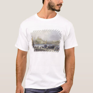 The Floating Bridge, Istanbul, engraved by J.C. Be T-Shirt