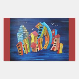 The Floating City Rectangular Sticker