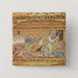 The Flood, from the Atrium, detail of Noah 15 Cm Square Badge