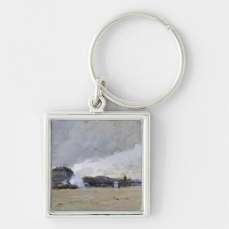 The Flooding of the Seine, c.1903 Key Ring