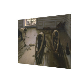 The Floor Scrapers by Gustave Caillebotte Stretched Canvas Print