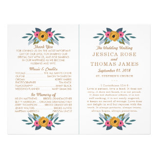 The Floral Wreath White Wedding Collection Flyer