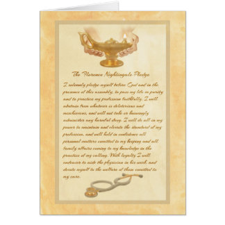 The Florence Nightingale Pledge Card