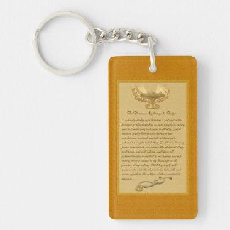 The Florence Nightingale Pledge Double-Sided Rectangular Acrylic Key Ring