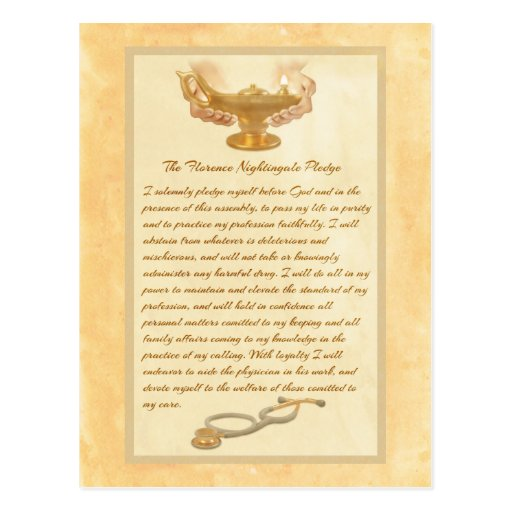 The Florence Nightingale Pledge Post Cards