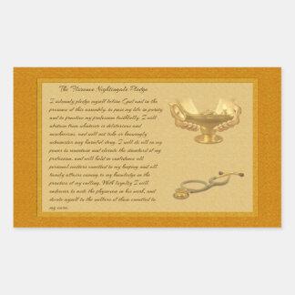The Florence Nightingale Pledge Rectangular Sticker