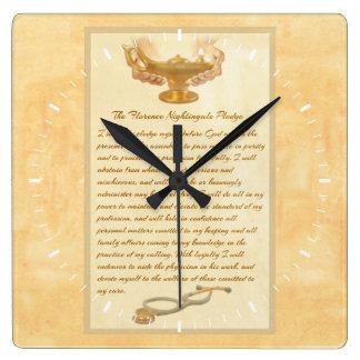 The Florence Nightingale Pledge Square Wall Clock