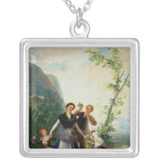 The Florists or Spring, 1786 Silver Plated Necklace