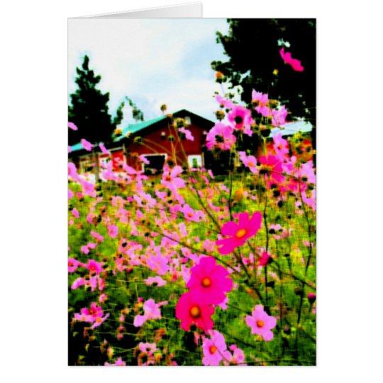 The Flower Farm painting Card