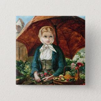 The Flower Girl 15 Cm Square Badge