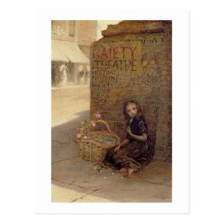 The Flower Girl, 1872 (oil on canvas) Postcard