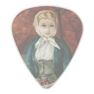 The Flower Girl Acetal Guitar Pick