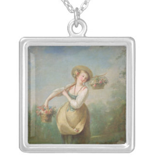 The Flower Girl Silver Plated Necklace