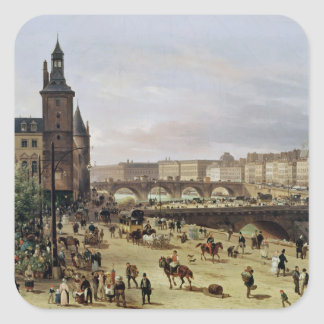The Flower Market, 1832 Square Sticker
