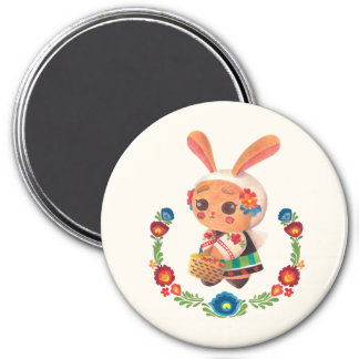 The Flower Polish Bunny 7.5 Cm Round Magnet