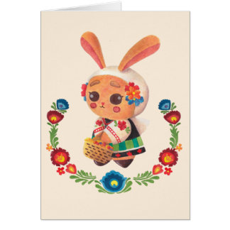 The Flower Polish Bunny Greeting Card