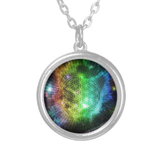The Flower Round Pendant Necklace