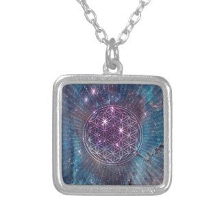 The Flower Square Pendant Necklace