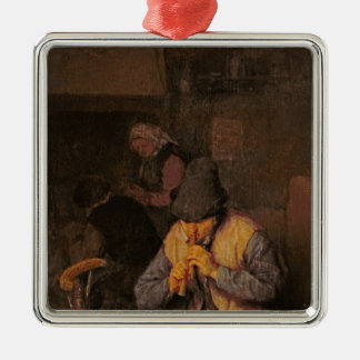 The Flute Player, 17th century Christmas Ornament