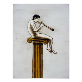 The Flute-player Poster