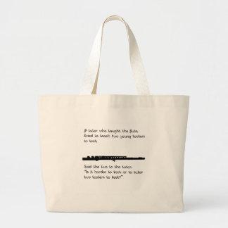 The Flute Tutor Large Tote Bag