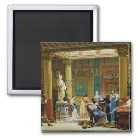 The Fluteplayer' and 'The Diomedes' wife' Square Magnet